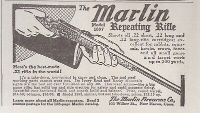 1915 Ad(Xe18)~Marlin Model 1897 Repeating .22 Rifle, New Haven, Conn.