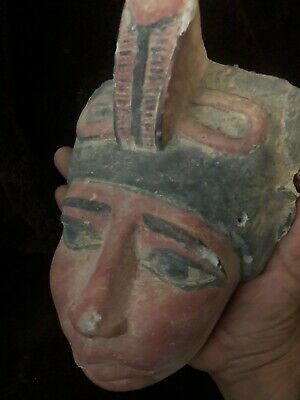 Large Rare Ancient Egyptian Stone Akhenaton Mask  (1336 Bc-1324)