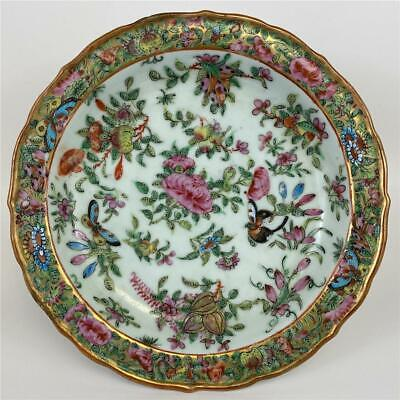 Antique Qing Chinese Export Famille Verte Rose Medallion Porcelain Charger Plate