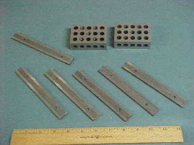 MACHINIST LOT: (2) Two 1-2-3 Blocks ~ (6) Six Magnetic Parrallels ,Milling/Grind