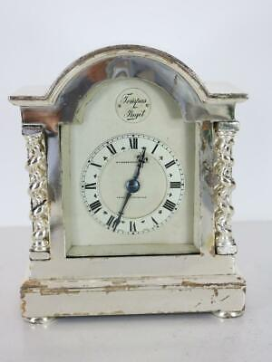 SILVER plated CARRIAGE CLOCK striking on a gong TO RESTORE lovely quality item