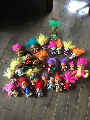 Vintage Troll Dolls Lot Of 24 With 1 Pencil Topper