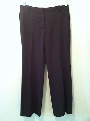 J.Crew womens pants trousers size 4 brown wool straight leg favorite fit lined