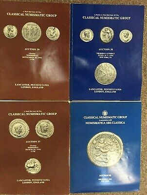 Lot of 4 CLASSICAL NUMISMATIC GROUP CNG AUCTION CATALOGS for 1996