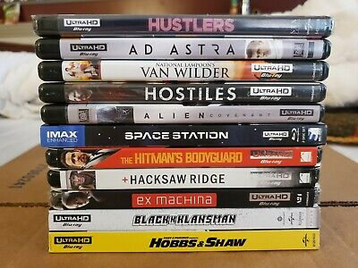 (11) 4K Movies Lot: Most w/Slipcovers (4K Ultra HD & Blu-ray) No Codes