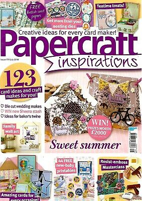 Papercraft Inspirations  Magazine Issue 179 July 2018. Free Oriental Dreams Kit