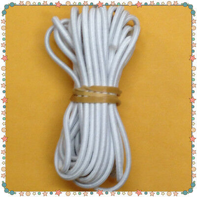 """Round Elastic Cord 3 mm (1/8"""") Masks sewing doll restring 6 Yards US SELLER!"""