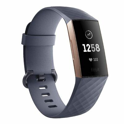 NEW Fitbit Charge 3 - Blue Grey/Rose Gold Aluminium