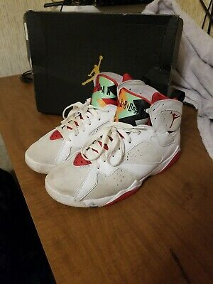NIKE 304775-125 Air Jordan 7 VII Retro Hare Bugs Bunny White True Red Size 8.5