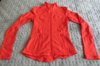 Lululemon Red  Zip Up Exercise Jacket In Euc Size Can 2 Aust 6-8