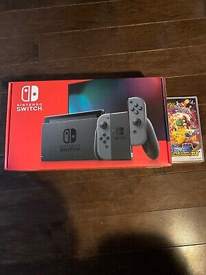 Nintendo Switch 32GB Console with Gray Joy‑Con And Pokken Tournament Game New