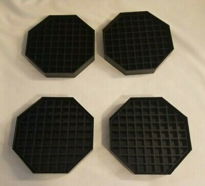 "4 Coffee Countertop Octagon Drip Trays, 5 1/2"" - Black, new, no box"