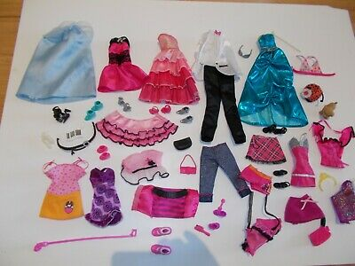 Bulk Lot Vintage Barbie and Ken Doll Clothes and Accessories