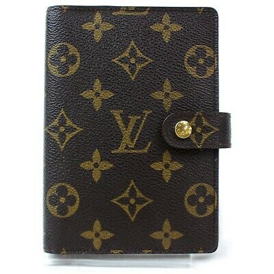 Authentic Louis Vuitton Diary Cover R20005 Agenda PM Browns Monogram 1206267