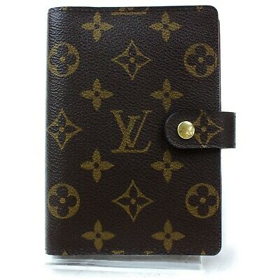 Authentic Louis Vuitton Diary Cover R20005 Agenda PM Browns Monogram 1115685