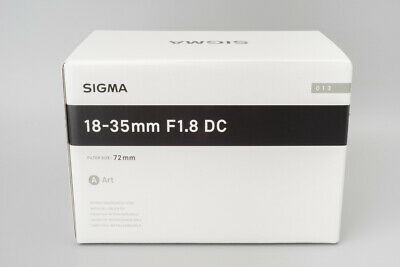 *NEW* Sigma 18-35mm f/1.8 F1.8 DC HSM Art Lens for Canon EF Mount