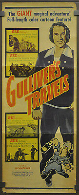 GULLIVER'S TRAVELS R-1957 Original 14X36 Movie Póster Jessica Dragonette Lanny