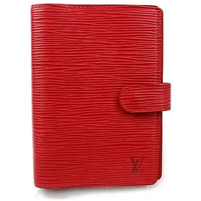 Authentic Louis Vuitton Diary Cover R20057 Agenda PM Red Epi 1205363