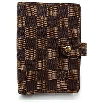 Authentic Louis Vuitton Diary Cover R20700 Agenda PM  Browns Damier 1112796