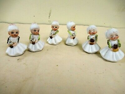 Antique Doll Frozen Charlotte Miniature All Bisque Dollhouse China Head German*F