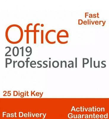 MICROSOFT OFFICE 2019 PROFESSIONAL PLUS 32/64bit OEM License Key FAST DELIVERY