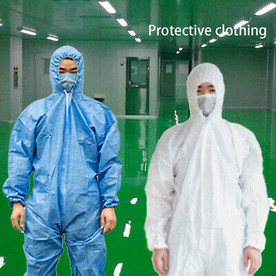 Disposable Protective Suit Hooded Coverall Painting Spraying Safety Clothing