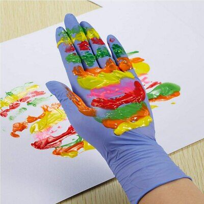 100 pcs Kids Disposable XS/S Size Gloves, Nitrile Gloves Latex Free, Food Grade