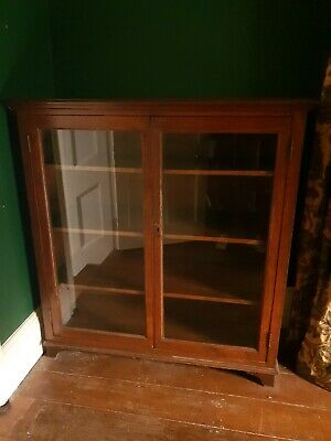 Old Vintage Large Glass Display Unit