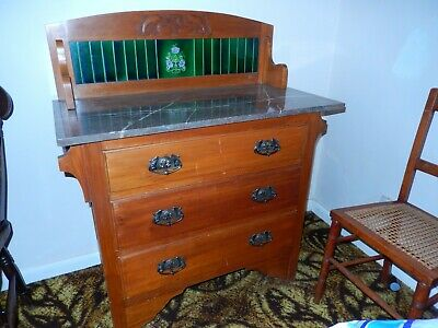 antique bedroom furniture wardrobe dressing table wash hand stand  circa 1930's