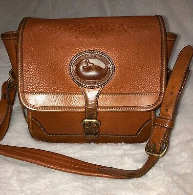 Dooney & Bourke Vintage Tan All Weather Leather Crossbody Bag
