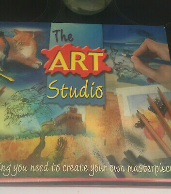 The Art Studio Charcoal Pastel & Watercolor Kit Never Used