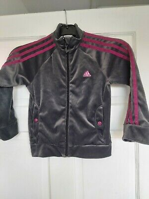 Girls Adidas Zip Up Size 4-5 Years