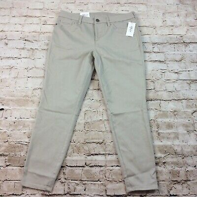 Style Co Womens Pants 6 Petite Khaki Stone Ultra Skinny Leg Mid Rise Stretch