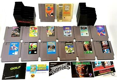 Nintendo NES lot of 14 Games & 11 Sleeves / Booklets - Zelda Mario Ninja Turtles
