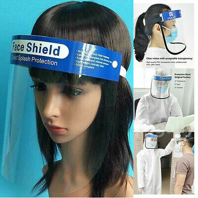 US Transparent Adjustable Full Face Shield Plastic Anti-fog Protective Cover