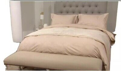 Kelly Hoppen King Size Nude 6 Piece Gatsby Bedding Collection Bed Set Art Deco