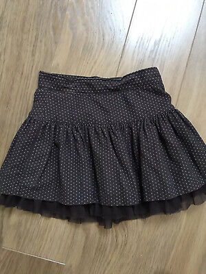 Gap Girl Brown Cord Skirt With Pink Spot, Age 7