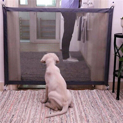 Magic-Gate Folding Safety Guard Door Mesh Fence Net Stairs Doors Pets Dog Puppy