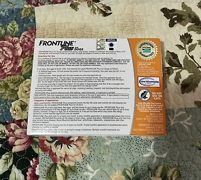 FRONTLINE Plus for Dogs -Orange, For Dogs 5 to 22 lbs.