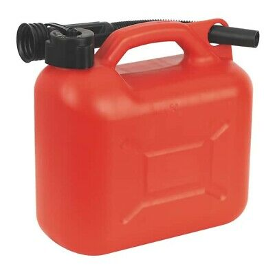 2 x 5 Litre Plastic Fuel Jerry Can Red Petrol Can 5 Litre Storage Container