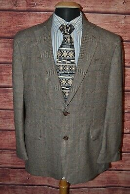 Brooks Brothers Men's 346 Madison Fit Plaid 2 Front Button Sports Coat Sz 43R