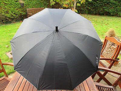 Black with silver lining, automatic opening umbrella - new