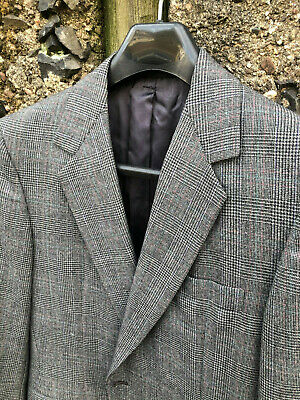 Martin Greenfield Custom Tailored Bespoke USA Staple Flannel POW Suit SZ 36S 38S