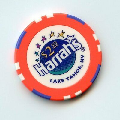 2.50 Chip from the Harrahs Casino Lake Tahoe Nevada
