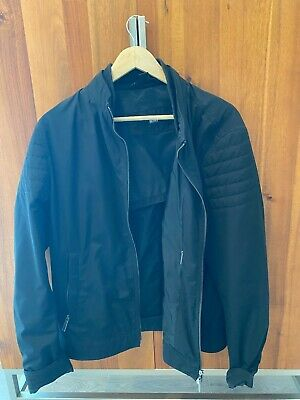 HUGO BOSS MEN water repellent BLACK jacket size 52 M/L
