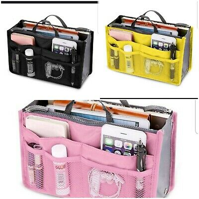 Buy 2 Get 1 Free, Travel Insert Organizer Purse Large Liner Tidy Bag Pouch