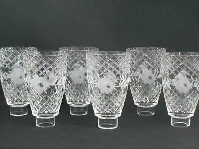 6 Crystal Diamond Cut Etched Floral Glass Ceiling Fan Chandelier Wall Sconce