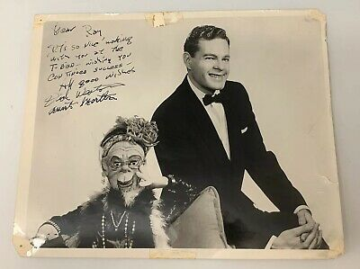 "Dick Weston American Ventriloquist & Martha 8x10"" Black And White Signed Photo"