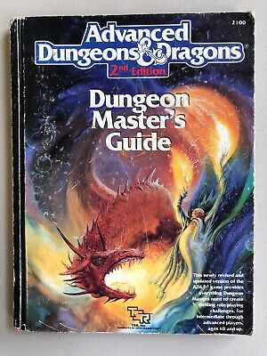 DUNGEON MASTER's GUIDE 1989 1st print Dungeons & Dragons 2nd Ed HB Good