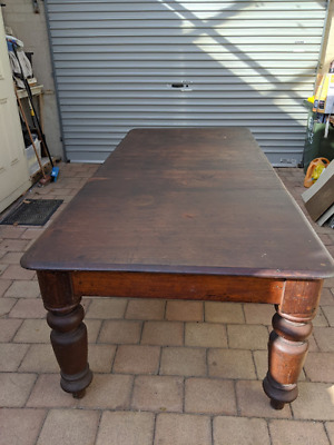 Large Australian red cedar refectory (dining room) table.